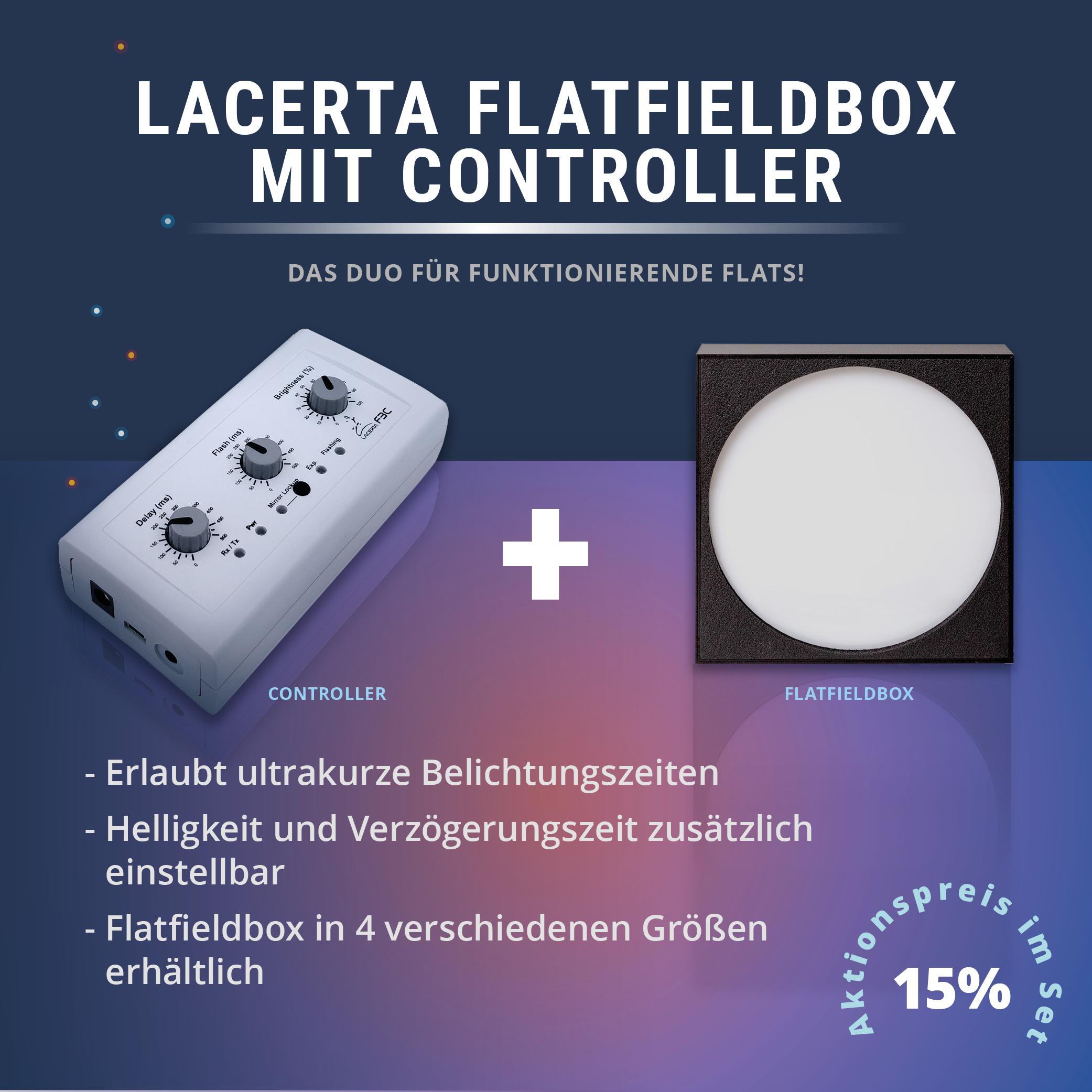 Lacerta Flat Box Controller (FBC) mit Flatfieldbox