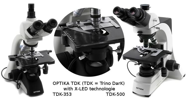 OPTIKA (Italy) TDK Dunkelfeld Mikroskop
