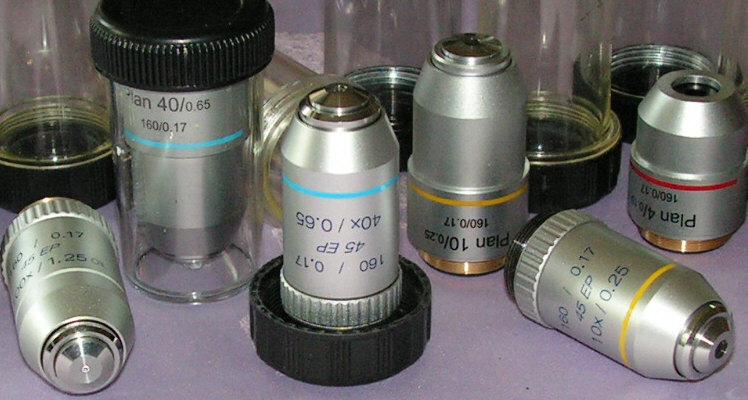 Semiplan- �s Planobjekt�vek mikroszk�phoz (160mm)
