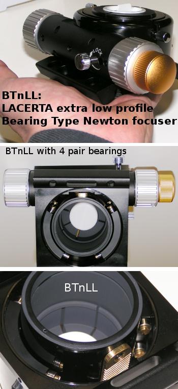 LACERTA kugelgelagerte Okularauszüge (Crayford, Bearing Type, Linear)