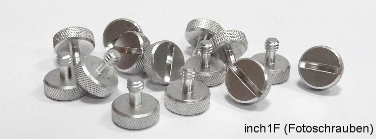 Non-metrical screws for mounts