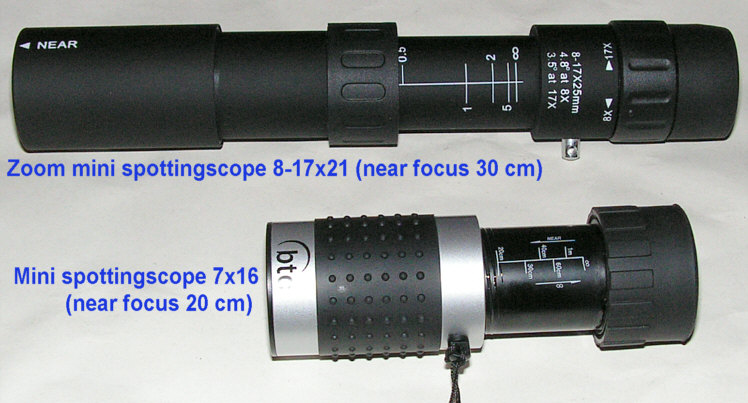 Zoom Mini SpottingScopes with near focus