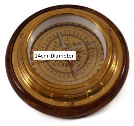 kompass14 kompass replikat aus messing voll. Black Bedroom Furniture Sets. Home Design Ideas